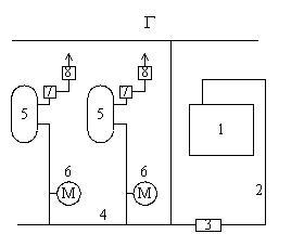 Схема водородной установки