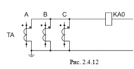 Соединение трансформаторов тока в фильтр токов нулевой последовательности