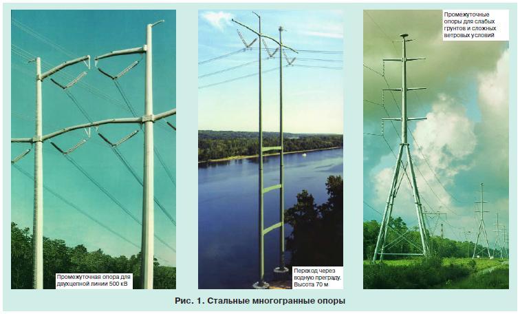 линии электропередачи на стальных опорах 2