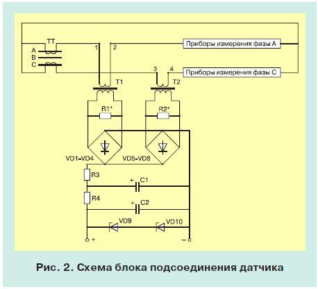 Контроль тока в распределительных линиях электропередачи 10 кв 2