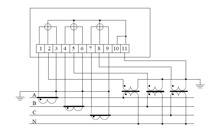 Схема счетчика 1