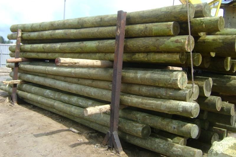 Деревянные опоры для ЛЭП 2