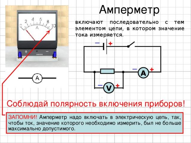 Амперметр: назначение, схемы подключения, типы, характеристики