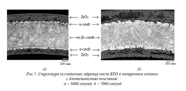 Влияние длительности высокотемпературного окисления в паре на структуру и механические свойства сплава циркалой-4